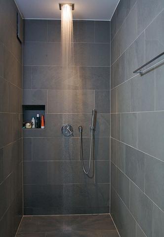 So Kann Eine Schiefer Dusche Bei Geeigneter Pflege Mühelos Aussehen.    (Reinigung,
