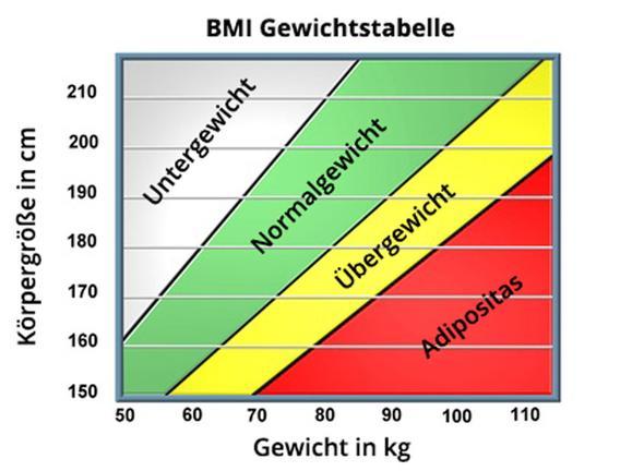 - (Gewicht, Größe, Übergewicht)