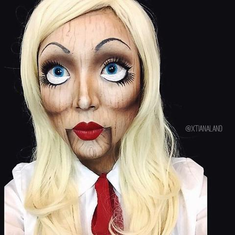 - (Make-Up, Halloween, Horrorpuppe)