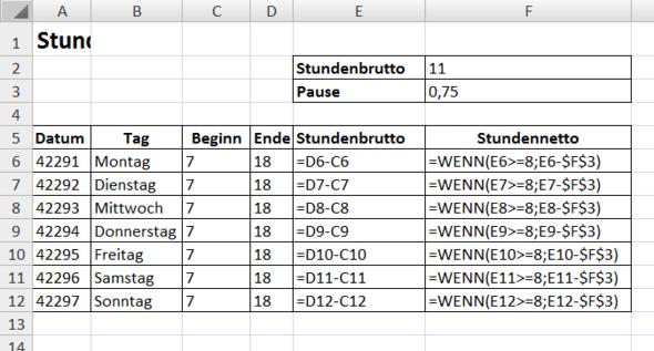 Formel - (Excel, Office)