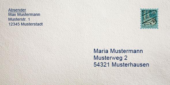 Brief Nach Wien Versenden : Richtiges beschriften von einen briefumschlag brief