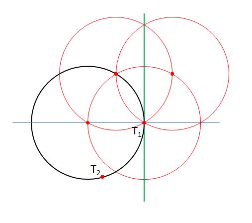 Tangenten durch T1 - (Mathe, Mathematik, Geometrie)