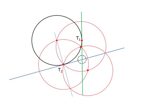 Tangente durch T2 - (Mathe, Mathematik, Geometrie)
