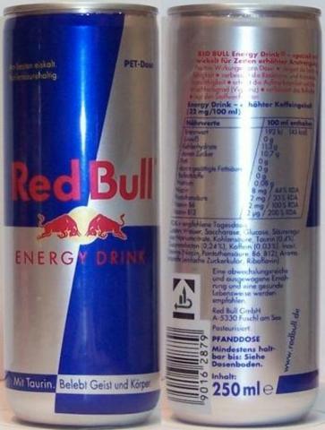 Red Bull PET Dose - (essen, Ernährung, Getränke)