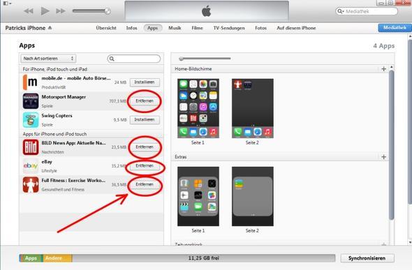 iTunes Apps löschen - (iPhone, Apple)