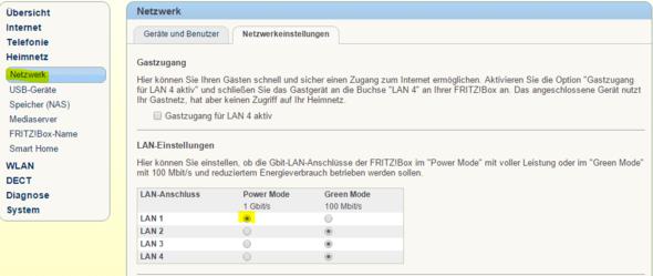 Greenmode - (LAN, Fritz Box, fritz-box-7390)