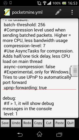 false zu true - (Server, pocketmine)