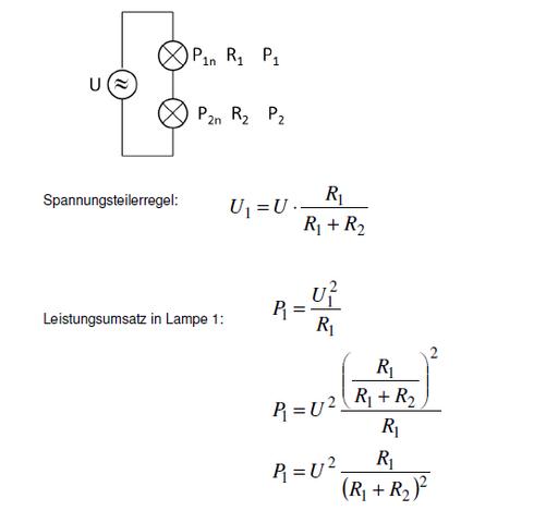 Spannungsteilerregel - (Physik, Elektronik, Stromkreis)