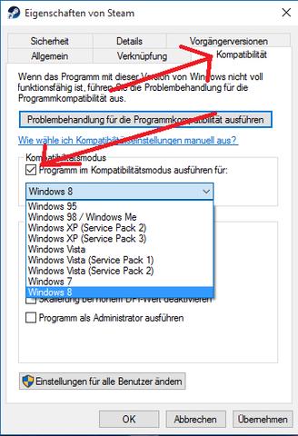 Kompatibilitätsmodus einstellen! - (PC, Windows, PC-Spiele)