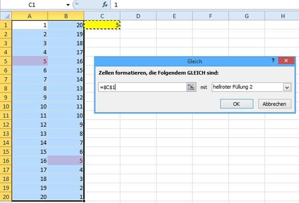 Bedingte Formatierung - (Computer, Programm, Mathematik)