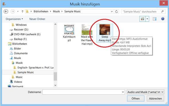 Bild 1, Movie Maker 2012, Musik hinzufügen - (Computer, Musik, Film)