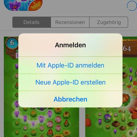 Screen - (aendern, Administrator, apple id)