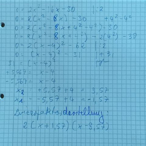 2(x+1,57)(x-9,57) - (Mathe, Nullstellen)