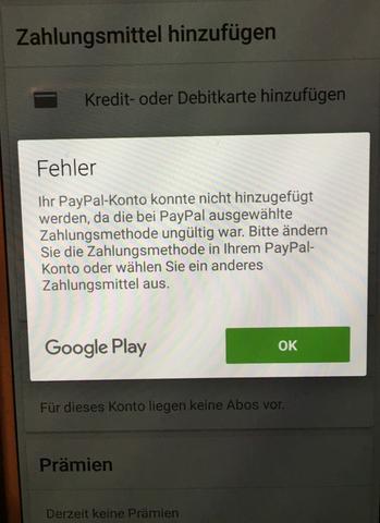 - (App, Google, PayPal)
