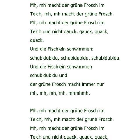 Froschlied  - (Sprache, Angebot, Kleinkind)