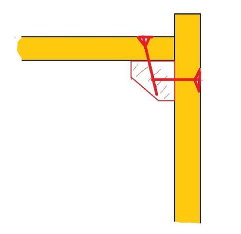 Fach und Seitenteil mit Leiste - (Reparatur, Möbel, Handwerk)