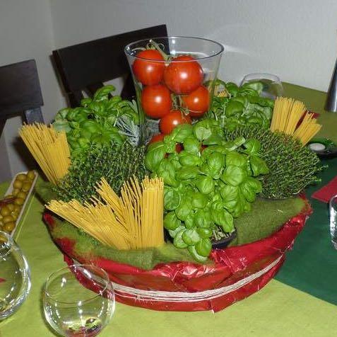 Habt ihr ideen f r italienische tischdekoration schule for Italienische dekoration