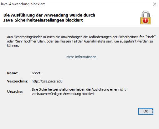 java applets fehler blockiert - (Java, Sicherheit, Programmierung)