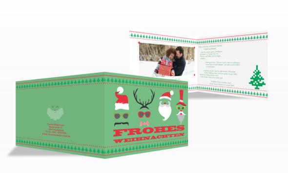 Weihnachtskaren Hessn Masks - (Weihnachten, weihnachtskarten)