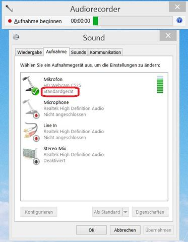 Aufnahmegeräte und Audiorecorder - (Computer, Mikrofon, aufnehmen)