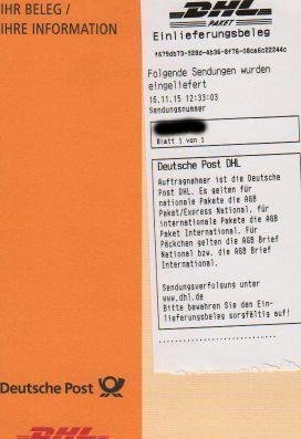 DHL Beleg - (DHL, Österreich)