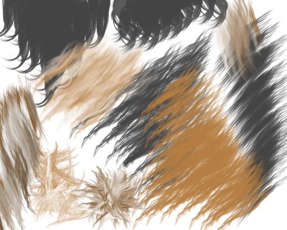 Fellpinsel mit Beispieldynamiken in Gimp - (Pferde, zeichnen, Photoshop)