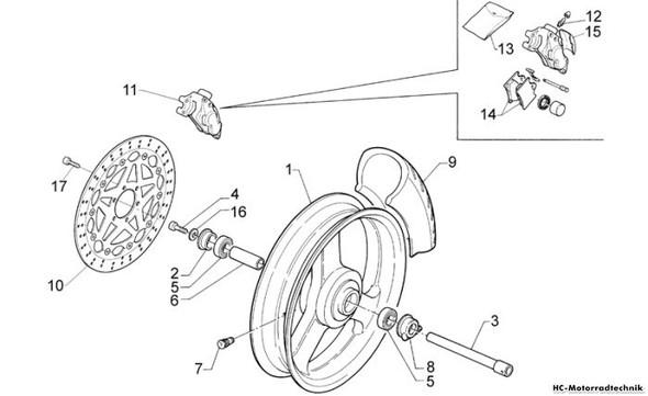 Rad 2 - (Motorrad, Rad, Bremsscheiben)