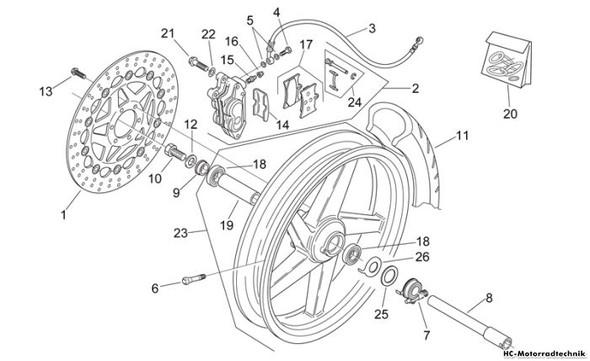 Rad 3  - (Motorrad, Rad, Bremsscheiben)