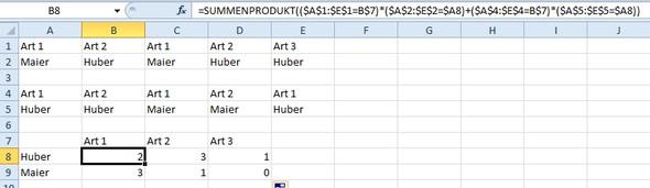 summenprodukt - (Microsoft, Excel)