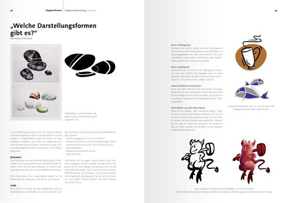 """Innenseite von Mappenvorbereitung kompakt"""" (ISBN 978-3-00-045209-3 - (Studium, Design, Mappenvorbereitung)"""