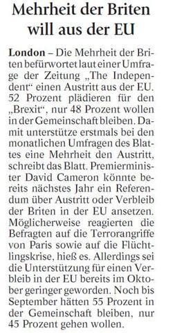 Brexit - (Englisch, Referat, England)