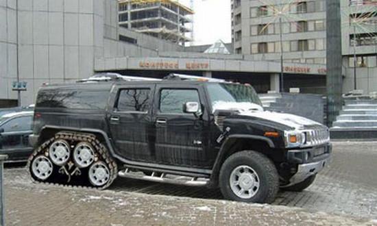Hummer mit Kette - (Musik, Auto, Motor)