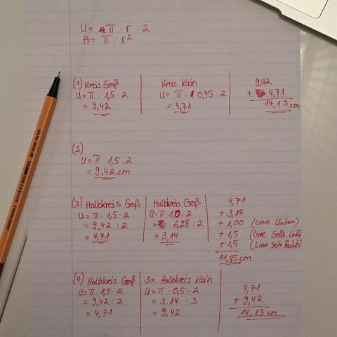 Lösung - (Mathe, Aufgabe, Formel)
