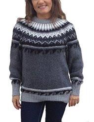 Damen Pullover Alpakawolle Norweger Stil - (Liebe, Mädchen, Haare)