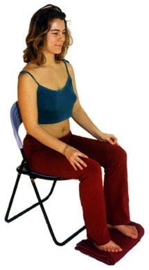 Meditation auf dem Stuhl - (Gesundheit, Fitness, Meditation)