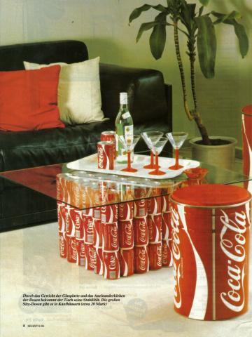 etwas kreatives mit cola dosen anstellen kreativit t dose. Black Bedroom Furniture Sets. Home Design Ideas
