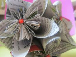 Papierblumen! - (basteln, Zeitung, Recycling)