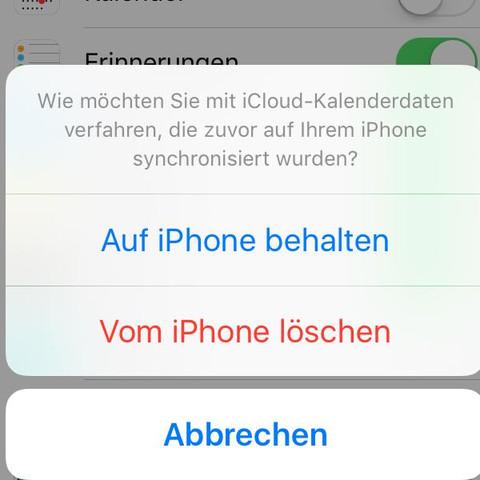 3.: Danach kommt dieses Fenster (selbsterklärend) - (Handy, Apple, iPhone)
