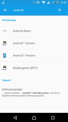 - (Sony Xperia Z5, Update Center)