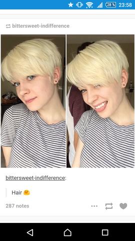 (hab mal einen  Pixie Cut von tumblr gescreenshottet)^^ - (Haare, Frisur, Style)