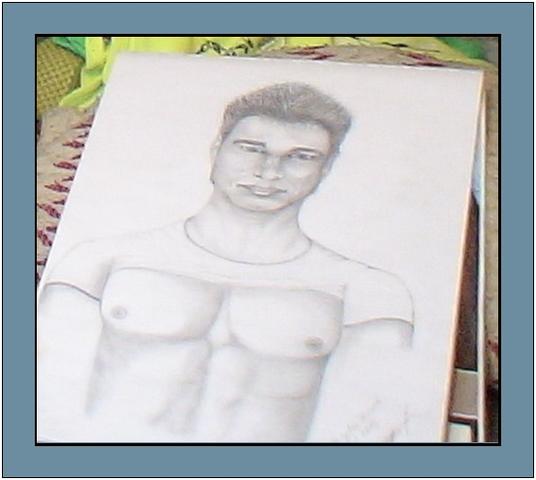 ein Kumpel von mir, den ich mal zeichnen durfte... - (Kunst, zeichnen, Personen zeichnen)
