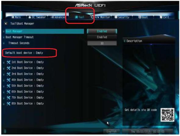Asrock BIOS default Boot device einstellen - (PC, Bios)