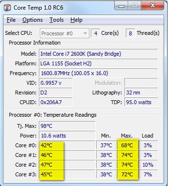 CPU Temperaturen - (Windows, Fehler)