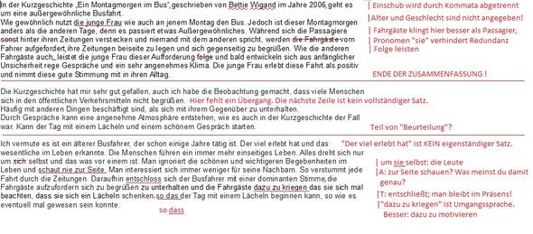 Inhaltsangabe Zur Kurzgeschichte Gut Geschrieben Deutsch