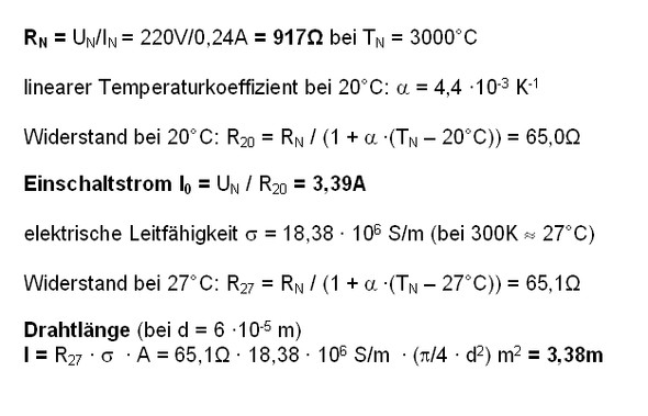 Wolframwendel - (Elektrotechnik, Widerstand)