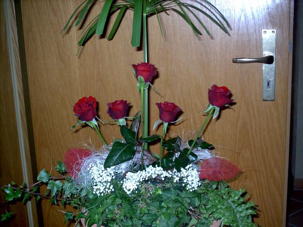 Hochzeitstisch-Gesteck - (Blumen, hochzeit deko, feld selbst schneiden)