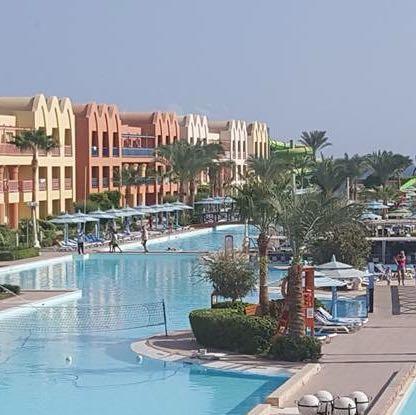 Ein kleines Teil der poolanlagen - (Reise, Ägypten, günstige Pauschalreisen )