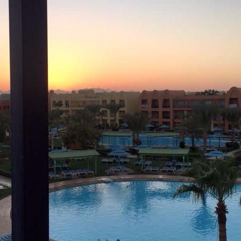Auf dem Balkon - (Urlaub, Hotel, Ägypten)