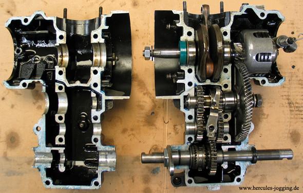 Motor geöffnet - (Mofa, Kupplung, Hercules)