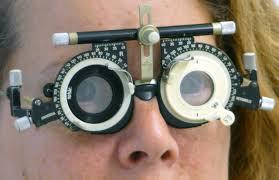 manuell mit Messbrille - (Augen, Brille, sehen)